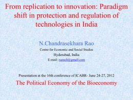 From replication to innovation: Paradigm shift