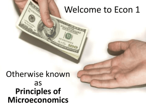 Welcome to Econ 1 - Bakersfield College