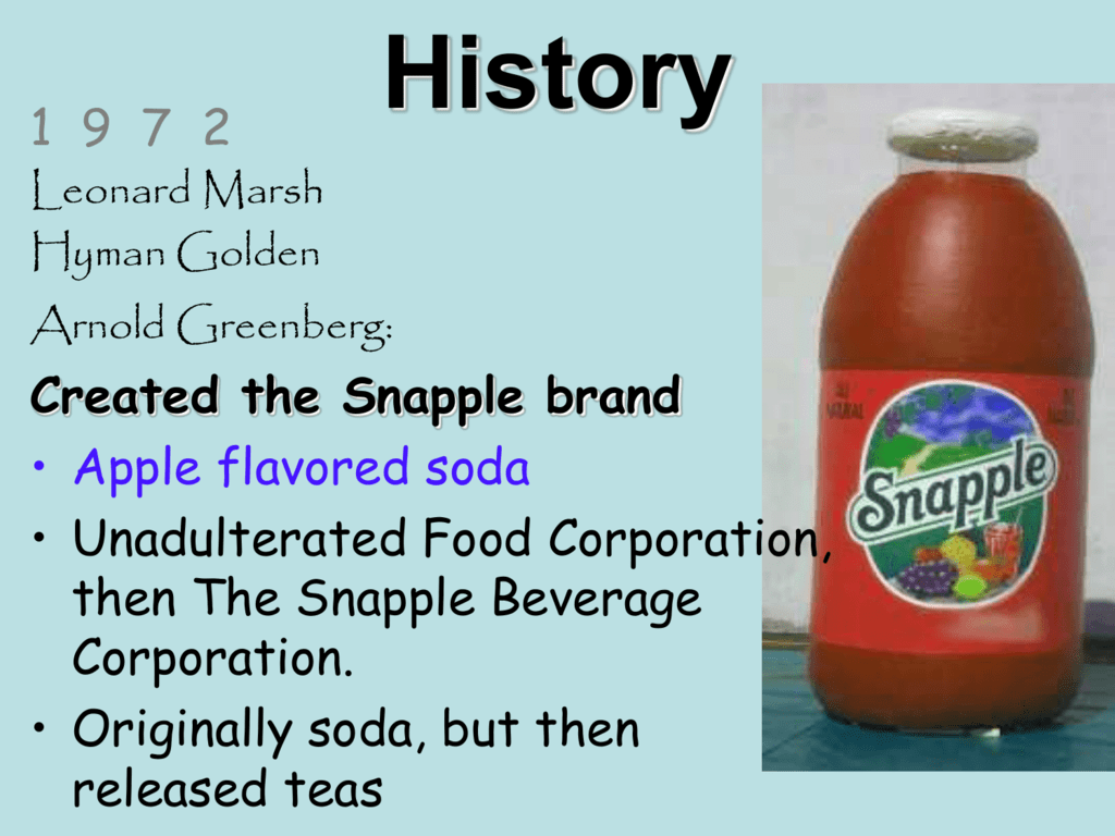 snapple brand positioning