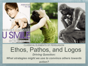 Ethos, Pathos, and Logos Presentation