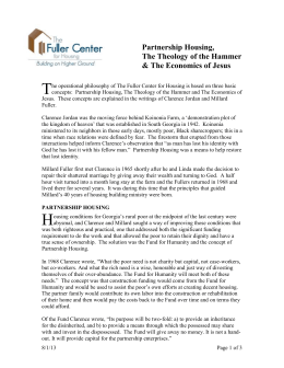 Foundational Concepts - The Fuller Center for Housing