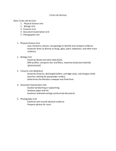 Crime Lab Services student notes