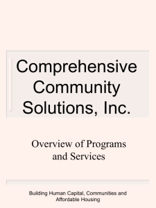 YouthBuild Rockford - Comprehensive Community Solutions, Inc.