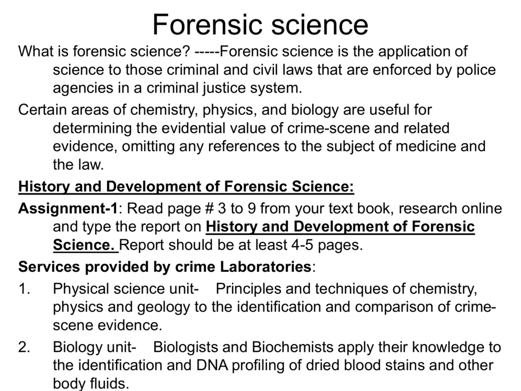 Forensic Science Environmental Chemistry
