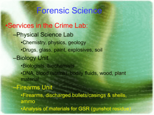 Forensic Science 1