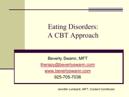 Eating Disorders: A CBT Approach: Powerpoint presentation