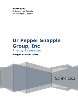 Dr Pepper Snapple Group, Inc