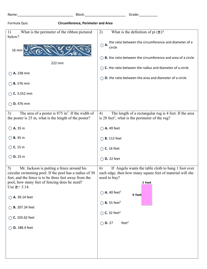 Worksheet: Formula Practice (doc)