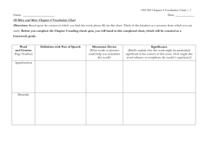 Chapter 4 Vocabulary Chart - Lyndhurst School District