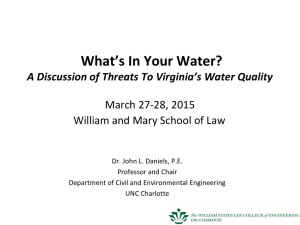 UNC Charlotte - William & Mary Environmental Law and Policy Review