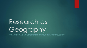 Research as Geography