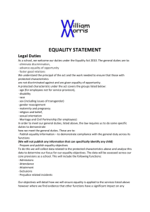 Equality Statement