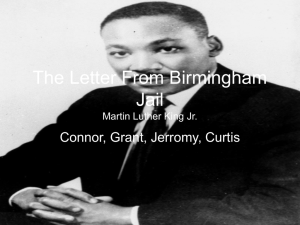 The Letter From Birmingham Jail Martin Luther King Jr.
