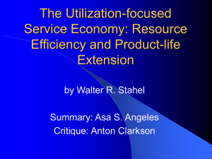 The Utilization-Focused Service Economy: Resource Efficiency and