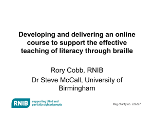 Developing and delivering an online course to support the effective