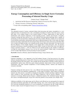Energy Consumption and Efficiency in Single Screw Extrusion