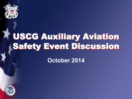 USCG Auxiliary Aviation Safety