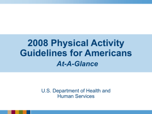 2008 Physical Activity Guidelines for Americans At-A