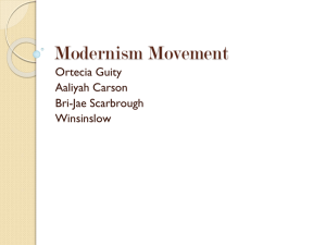 Modernism Movement P.1
