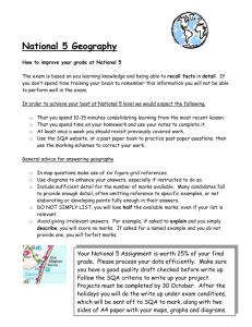 National 5 Geography