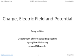 Charge, electric field and potential