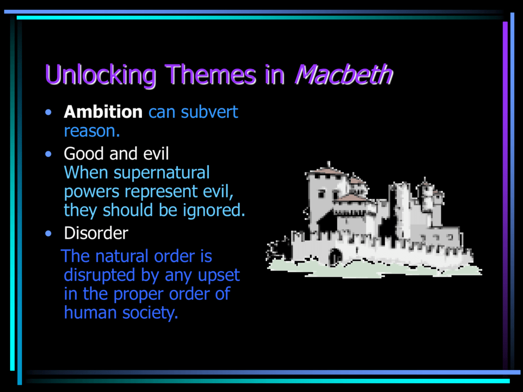 macbeth themes and quotes