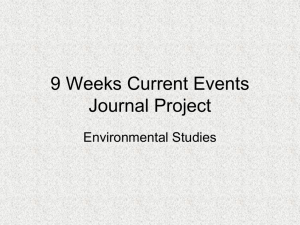 9 Weeks Journal Project