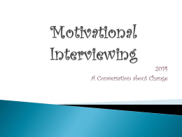 Motivational Interviewing for Public Health
