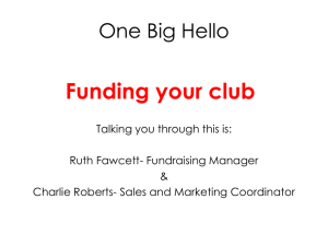 Funding your club
