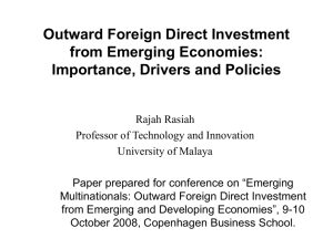 Outward Foreign Direct Investment from Emerging Economies