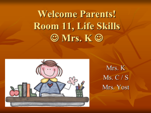 Welcome Parents! - Lower Moreland Township School District
