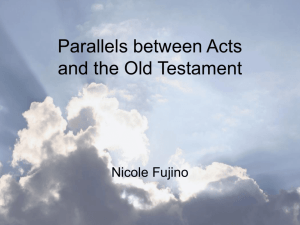 Acts' Parallels from the Old Testament