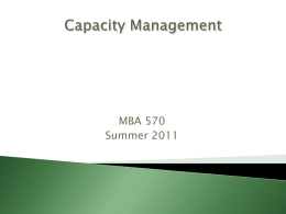 MBA 2011 Capacity Management June 6