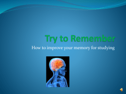 Try to Remember - Bismarck State College