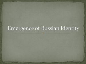 Chapter 10 - Emergence of Russian Identity