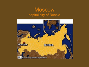 Moscow: Capitol City of Russia