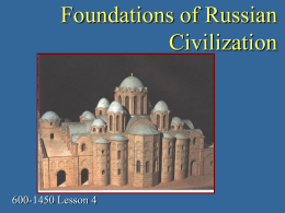 Foundations of Russian Civilization
