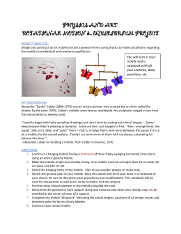 physics and art: rotational motion & equilibrium project