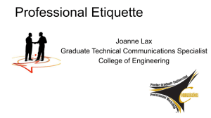 Professional Etiquette - College of Engineering