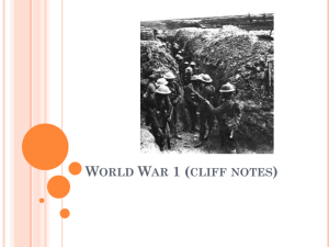 World War 1 (cliff notes)