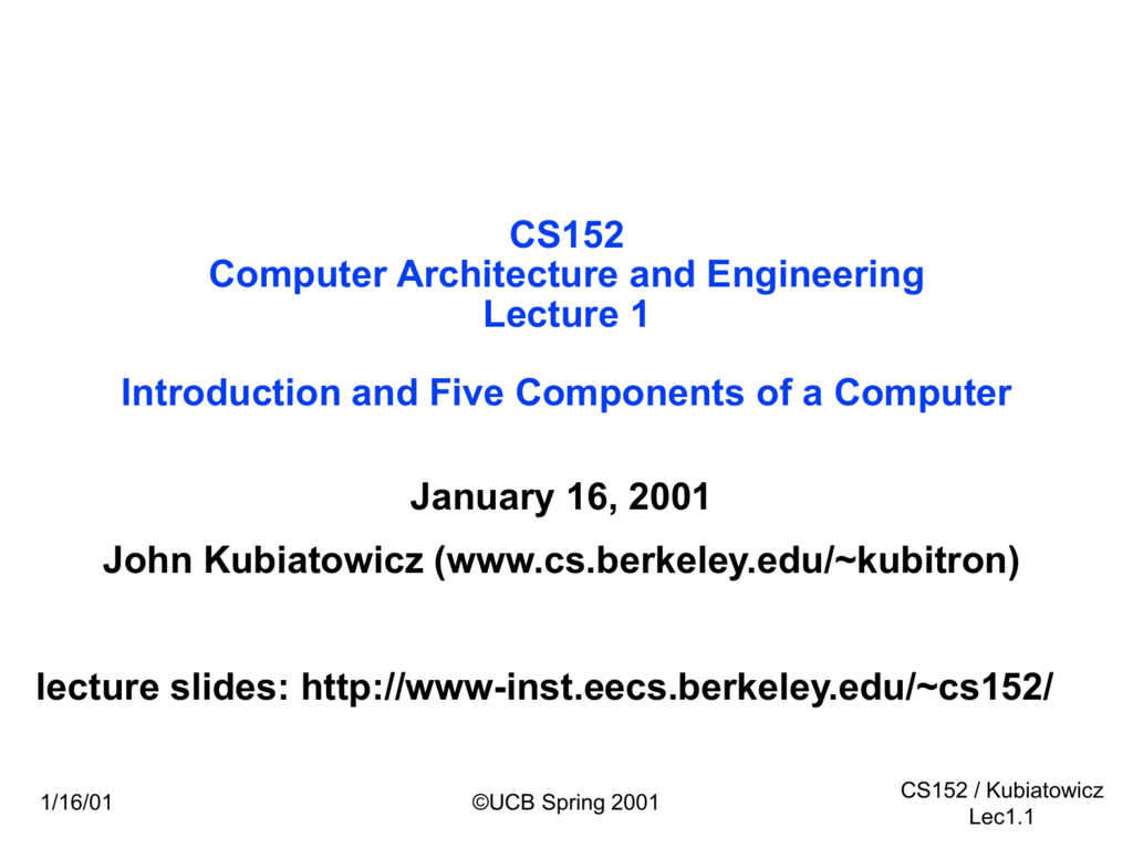 ppt - Electrical Engineering & Computer Sciences