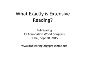 What exactly is Extensive reading