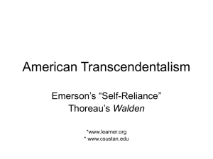 American Transcendentalism - Gill-English