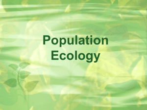 Population Ecology PPT
