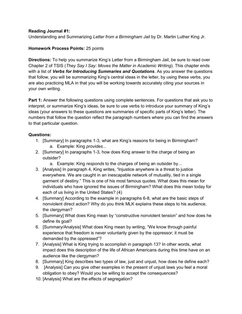 worksheet Letter From Birmingham Jail Worksheet Answers english1t rj1 w14 doc