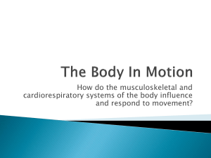 The Body In Motion Crital Question 1