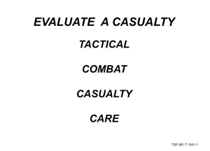 Evaluate a Casualty - Operational Medicine