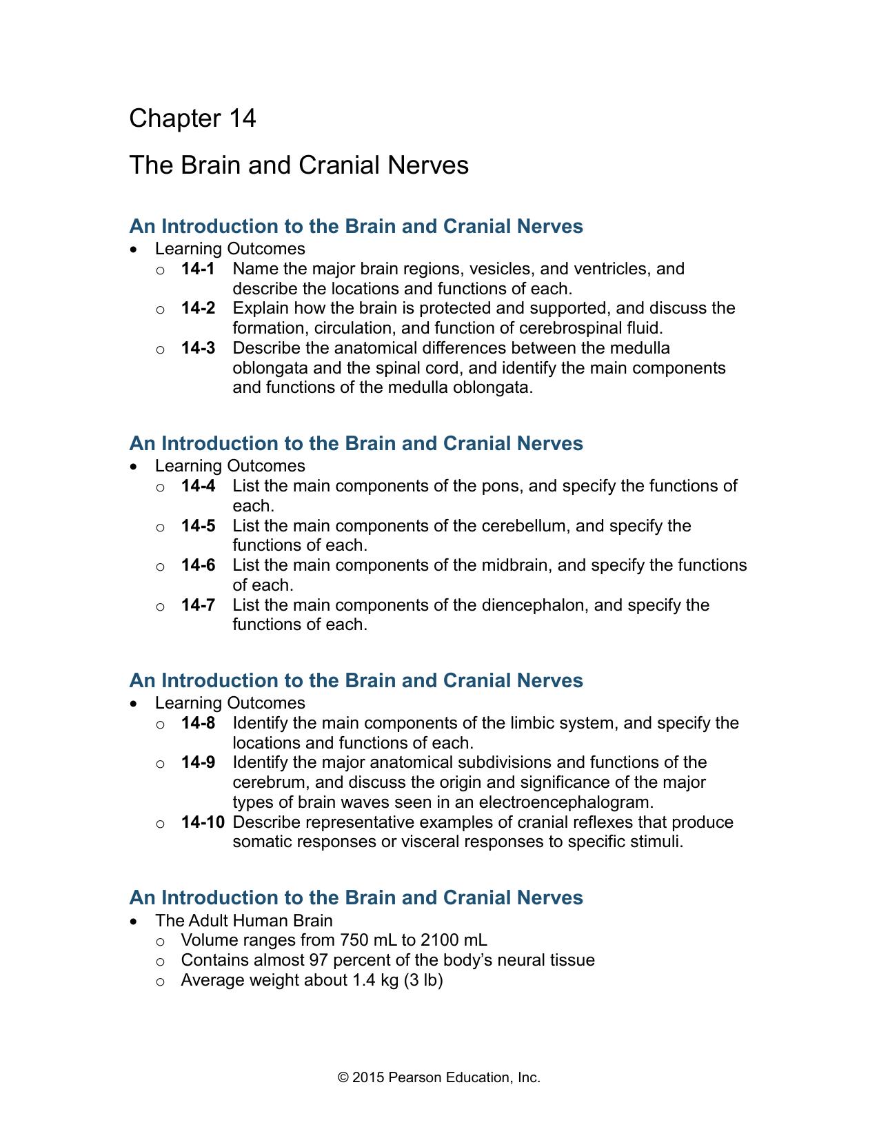 14-10 Cranial Nerves