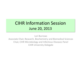 CIHR Information Session