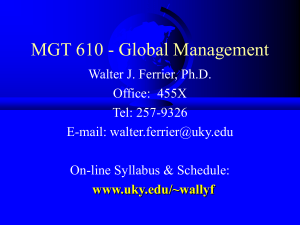 BA 610 - Global Management